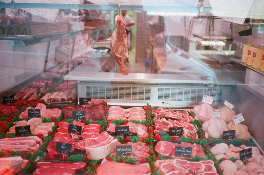 butcher shop window
